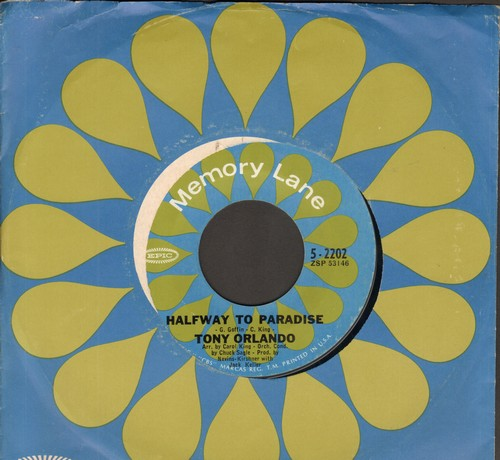Orlando, Tony - Halfway To Paradise/Bless You (early double-hit re-issue with Epic company sleeve) - VG7/ - 45 rpm Records