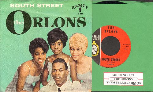Orlons - South Street/Them Terrible Boots (with picture sleeve and juke box label) - NM9/EX8 - 45 rpm Records