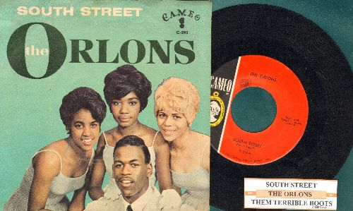Orlons - South Street/Them Terrible Boots (with juke box label and picture sleeve) - NM9/EX8 - 45 rpm Records