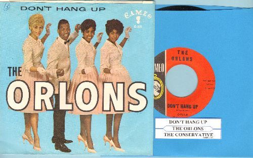Orlons - Don't Hang Up/The Conservative (with juke box label and picture sleeve) - NM9/EX8 - 45 rpm Records