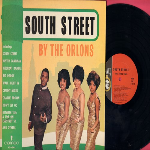 Orlons - South Street: Mister Sandman, Cement Mixer, Walk Right In, Charlie Brown, Don't Let Go (Vinyl MONO LP record) - VG7/EX8 - LP Records