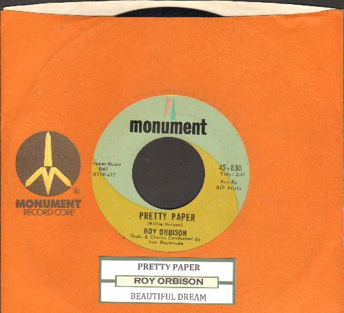 Orbison, Roy - Pretty Paper/Beautiful Dreamer (with juke box label and company sleeve) - EX8/ - 45 rpm Records