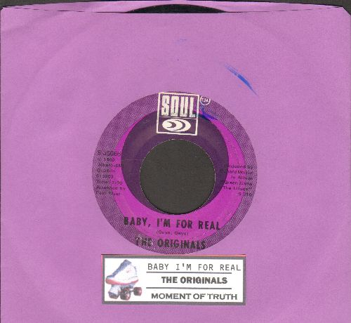 Originals - Baby, I'm For Real/Moment Of Truth (with juke box label) - NM9/ - 45 rpm Records