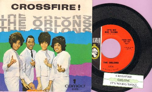 Orlons - Crossfire!/It's No Big Thing (with picture sleeve, NICE condition!) - NM9/NM9 - 45 rpm Records