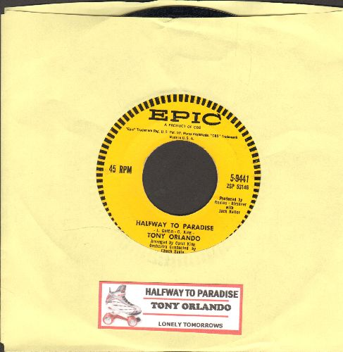 Orlando, Tony - Halfway To Paradise/Lonely Tomorrows (with juke box label) - EX8/ - 45 rpm Records