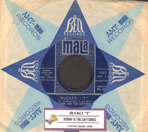 Ronny & The Daytonas - Bucket T/Little Rail Job (with vintage Mala company sleeve and juke box label) - NM9/ - 45 rpm Records
