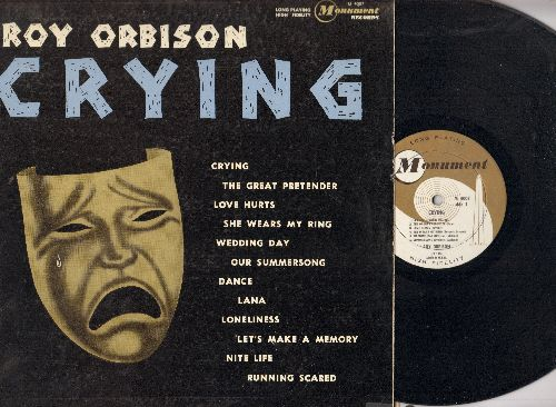 Orbison, Roy - Crying: Love Hurts, Running Scared, The Great Pretender, Wedding Day (Vinyl MONO LP record, RARE 1962 first pressing) - EX8/EX8 - LP Records