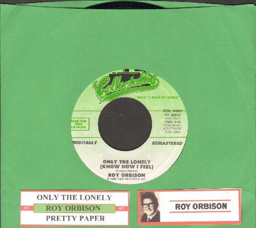 Orbison, Roy - Only The Lonely/Pretty Paper (re-issue with juke box label) - NM9/ - 45 rpm Records