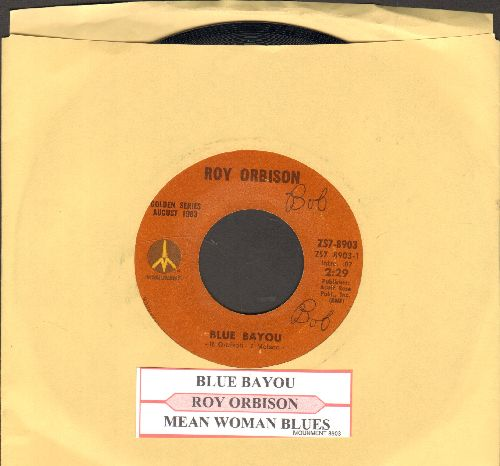 Orbison, Roy - Blue Angel/Paper Boy )early double-hit re-issue with juke box label) - NM9/ - 45 rpm Records