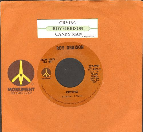 Orbison, Roy - Crying/Candy Man (re-issue with juke box label and company sleeve) - NM9/ - 45 rpm Records