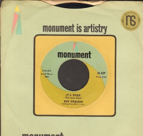 Orbison, Roy - It's Over/Indian Wedding (with Monument company sleeve) - NM9/ - 45 rpm Records