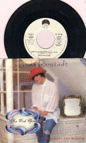 Ronstadt, Linda - When You Wish Upon A Star (double-A-sided DJ advance pressing with picture sleeve) - NM9/EX8 - 45 rpm Records