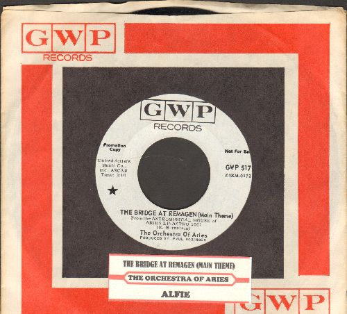 Orchestra Of Aries - The Bridge At Remagen (Main Title)/Alfie (DJ advance pressing with juke box label and RARE GWP company sleeve) - NM9/ - 45 rpm Records