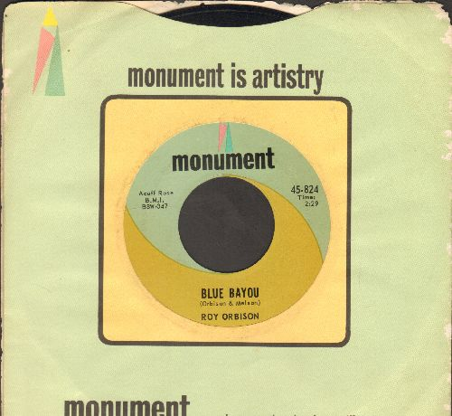 Orbison, Roy - Blue Bayou/Mean Woman Blues (with Monument company sleeve) - NM9/ - 45 rpm Records