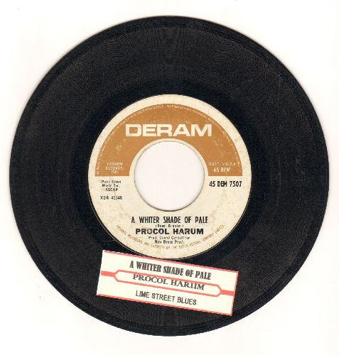 Procol Harum - A Whiter Shade Of Pale/Lime Street Blues (with juke box label) (bb) - VG7/ - 45 rpm Records