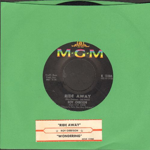 Orbison, Roy - Wondering/Ride Away (with juke box label) - EX8/ - 45 rpm Records