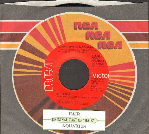 Original Cast - Hair/Aquarius (double-hit re-issue with juke box label and company sleeve) - NM9/ - 45 rpm Records