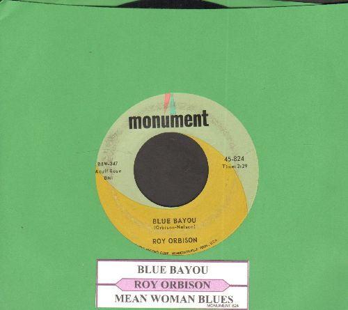 Orbison, Roy - Blue Bayou/Mean Woman Blues (with juke box label) - NM9/ - 45 rpm Records