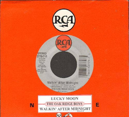 Oak Ridge Boys - Walkin' After Midnight/Lucky Moon (with RCA company sleeve and juke box label) - NM9/ - 45 rpm Records