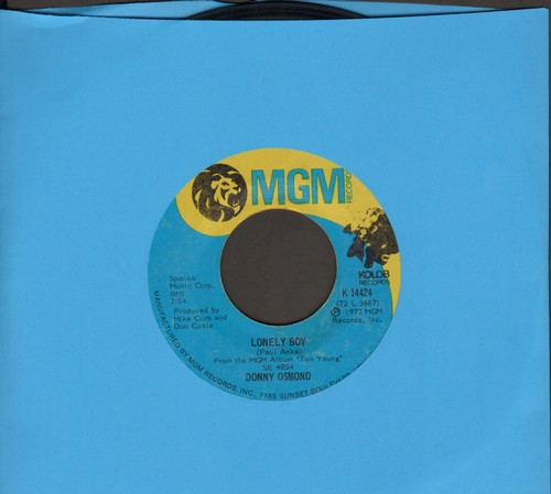 Osmond, Donny - Lonely Boy/Why  - NM9/ - 45 rpm Records