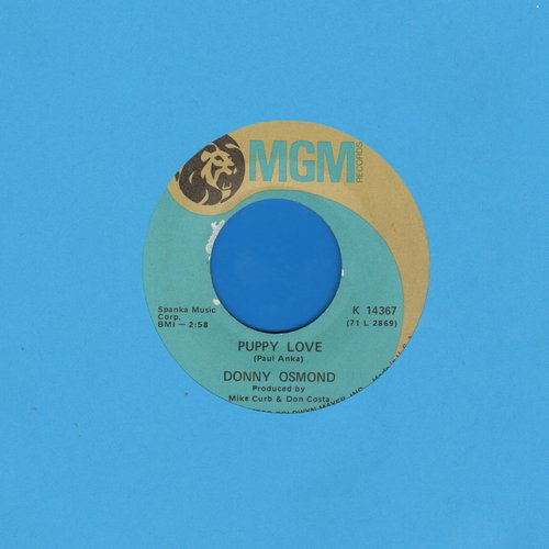 Osmond, Donny - Puppy Love/Let My People Go - EX8/ - 45 rpm Records