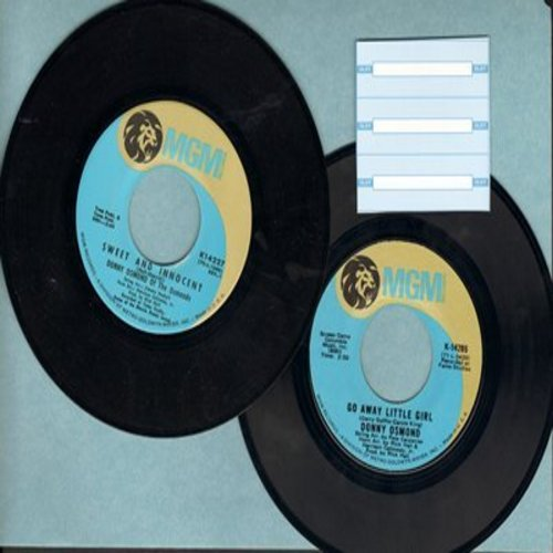 Osmond, Donny - 2 for 1 Special: Sweet And Innocent/Go Away Little Girl (2 original first issue 45rpm records for the price of 1!) - EX8/ - 45 rpm Records
