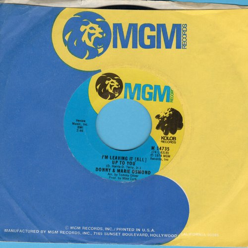 Osmond, Donny & Marie - I'm Leaving It (All) Up To You/The Umbrella Song - EX8/ - 45 rpm Records