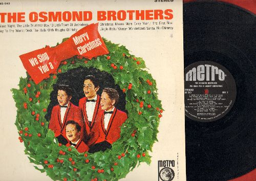 Osmond Brothers - We Sing You A Merry Christmas: Silent Night, Winter Wonderland, Joy To The World, The First Noel (Vinyl STEREO LP record) - EX8/EX8 - LP Records