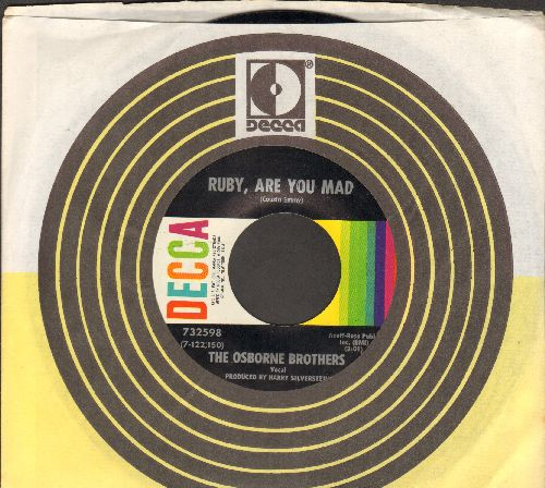 Osborne Brothers - Ruby, Are You Mad/Sempre (with Decca company sleeve) - NM9/ - 45 rpm Records