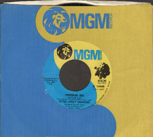 Osmond, Little Jimmy - Tweedlee Dee/Mama'd Know What To Do (with MGM company sleeve) - NM9/ - 45 rpm Records