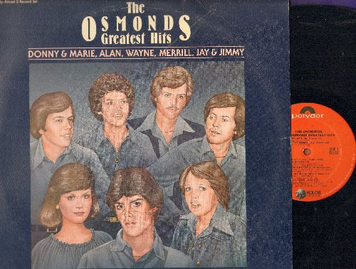 Osmonds - Greatest Hits: One Bad Apple, Sweet And Innocent, Puppy Love, Crazy Horses, Paper Roses (2 vinyl LP records, gate-fold cover) - NM9/EX8 - LP Records