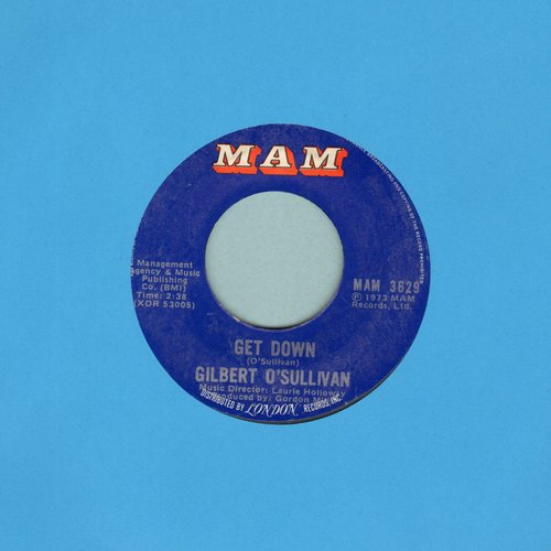 O'Sullivan, Gilbert - Get Down/A Very Extraordinary Sort Of Girl - VG7/ - 45 rpm Records