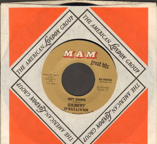 O'Sullivan, Gilbert - Get Down/Clair (early double-hit re-issue with company sleeve) - NM9/ - 45 rpm Records