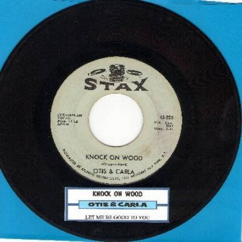 Otis & Carla - Knock On Wood/Let Me Be Good To You (with juke box label)(bb) - EX8/ - 45 rpm Records