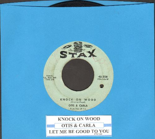 Otis & Carla - Knock On Wood/Let Me Be Good To You (with juke box label)(bb) - VG7/ - 45 rpm Records