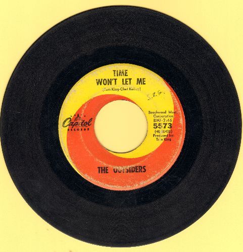 Outsiders - Time Won't Let Me/Was It Really Real (minor wol) - VG7/ - 45 rpm Records