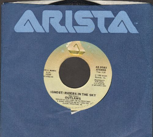 Outlaws - (Ghost) Riders In The Sky/Devil's Road (with Arista company sleeve) - EX8/ - 45 rpm Records