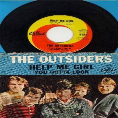 Outsiders - Help Me Girl/You Gotta Look (with picture sleeve) - EX8/VG6 - 45 rpm Records