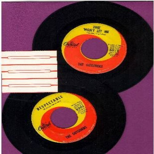 Outsiders - 2 for 1 Special: Time Won't Let Me/Respectable (shipped with 3 blank juke box labels) (2 vintage first issue 45rpm records for the price of 1!) - VG7/ - 45 rpm Records