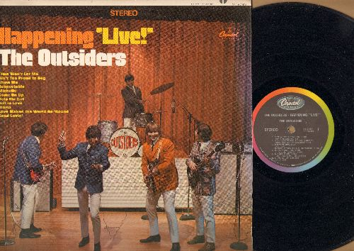 Outsiders - Happening LIVE!: Time Won't Let Me, Respectable, Ain't Too Proud To Beg, Michelle, Gloria, Good Lovin' (Vinyl MONO LP record) - VG7/VG7 - LP Records