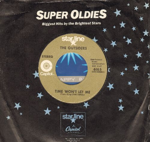 Outsiders - Time Won't Let Me/Girl In Love (double-hit re-issue with Capitol company sleeve) - NM9/ - 45 rpm Records