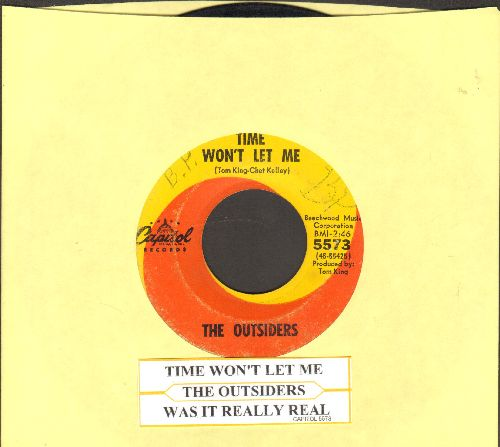Outsiders - Time Won't Let Me/Was It Really Real (with juke box label) - VG7/ - 45 rpm Records