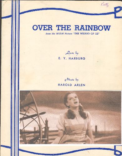 Garland, Judy - Over The Rainbow - Vintage SHEET MUSIC for Judy Garland's signature song - (This is SHEET MUSIC, not any other kind of media!) - VG7/ - Sheet Music