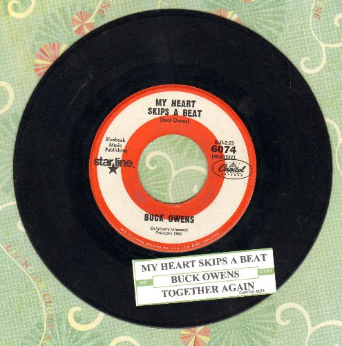 Owens, Buck - Together Again/My Heart Skips A Beat (early double-hit re-issue with juke box label0 - EX8/ - 45 rpm Records