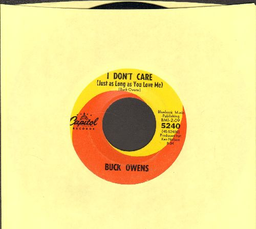 Owens, Buck - I Don't Care (Just As Long As You Love Me)/Don't Let Her Know - EX8/ - 45 rpm Records