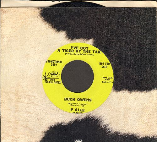Owens, Buck - I've Got A Tiger By The Tail/Cryin' Time (re-issue with company sleeve) - NM9/ - 45 rpm Records