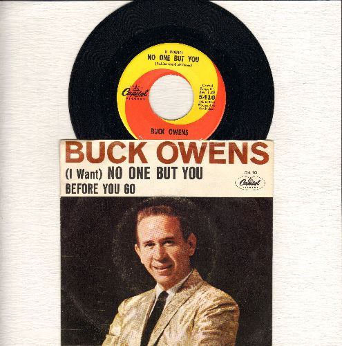 Owens, Buck - (I Want) No One But You/Before You Go (with picture sleeve) - M10/VG7 - 45 rpm Records