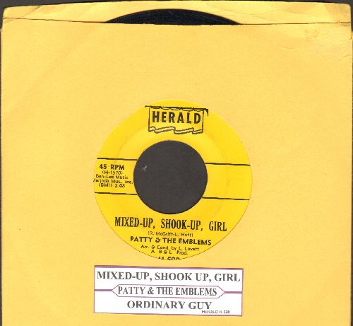 Patty & The Emblems - Mixed-Up, Shook-Up Girl/Ordinary Guy (with juke ox label) - EX8/ - 45 rpm Records