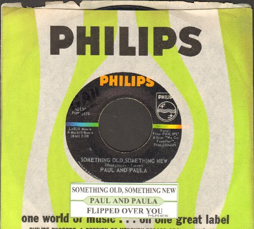Paul & Paula - Something Old, Something New/Flipped Over You (with juke box label and Philips company sleeve) - EX8/ - 45 rpm Records
