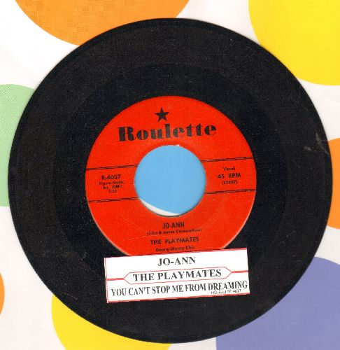Playmates - Jo-Ann/You Can't Stop Me From Dreaming (red label first issue with juke box label) - EX8/ - 45 rpm Records